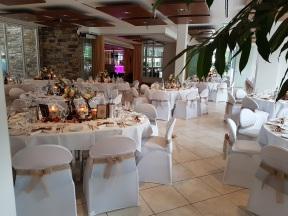 MMI-Das Hotel: In unserem Restaurant können Sie mit bis zu 140 Personen speisen und feiern. Zusätzlich nutzbar ist das angrenzende Kaminzimmer, z.B. als Tanzfläche
